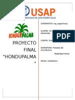 Proyecto Final Procesos de Manufactura