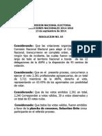 RESOLUCION NO. 05, elecciones 2014.pdf