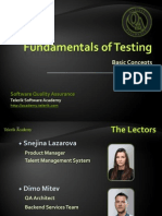 Fundamentals of Testing 2014