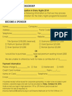 Starry Nights Sponsorhsip Application Form