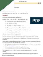 Newff (Neural Network Toolbox)