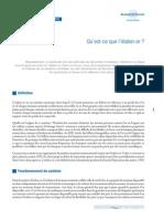 Banque de France - Qu'Est-ce Que l'Étalon-Or (2010)