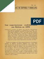 Las Negociaciones CONFIDENCIALES Con Bolivia en 1879.1927