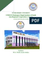 M.a. South Asian Studies111011