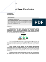Konfigurasi Dasar Cisco Switch