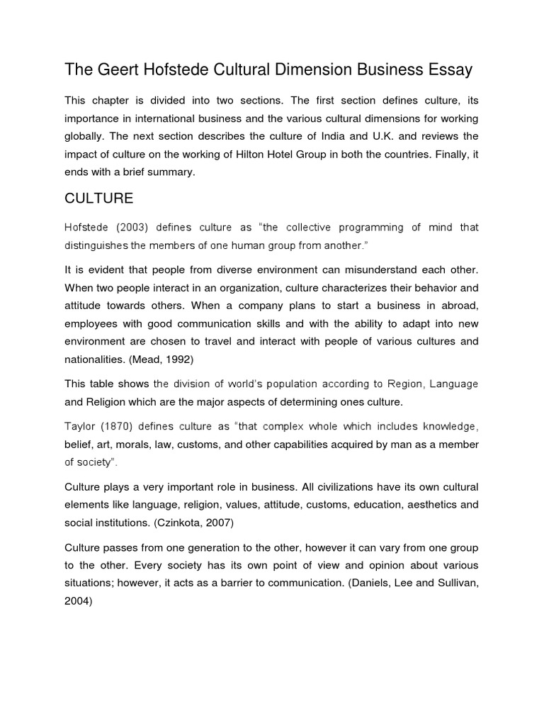 the geert hofstede cultural dimension business essay docx united the geert hofstede cultural dimension business essay docx united kingdom negotiation