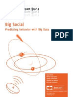 Big Social Predicting Behavior With Big Data