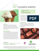 MALTISWEET® crystalline maltitol fact sheet