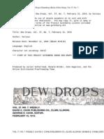 Dew Drops, Vol. 37, No. 07, February 15, 1914 by Various