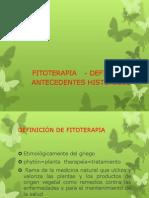 FITOTERAPIA DEFINICION