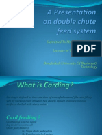 An Assignment on Double Chute Feed System