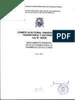 Reglamento General de Elecciones Para La Eleccion de Los Miembr