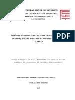 Perfil Proyecto de Grado Horno de Fundicion Por Arco Electrico