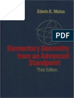 Edwin Moise Elementary Geometry From an Advanced Standpoint 3rd Edition 1990