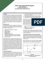 Ultrasonic Gas Flow Meter Basics