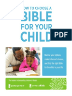 How To Choose A Bible For Your Child