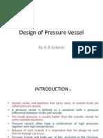 Design of Pressure Vessel by a.B.solanki