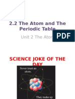 2 2 the atom and periodic table