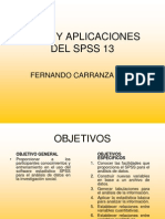 Usos y Aplicaciones Del Spss 13