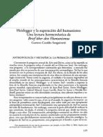 Heidegger y La Superación Del Humanismo. Una Lectura Hermeneútica de ''Brief Über Den Humanismus''