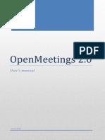 Openmeetings 2.0 - User's Manual
