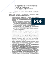Lista 9 - The History of the Microprocessors