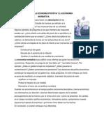 Diferencias Entre La Economia Positiva y La Economia Normativa