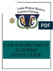 Law Enforcement Academy Study Guide