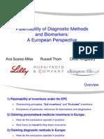 Diagnostic Methods Biomarkers EP