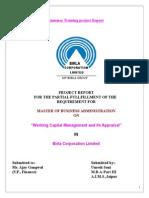 Working Capital Management in Birla