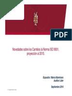 1 Proyección de Cambios ISO 9001 Al 2015 Rev01