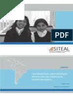 Consideraciones Sobre Estrategias de Inclusión Con Calidad en La Escuela Secundaria (SITEAL)