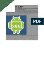 Instalar Android en Un PC