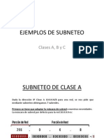 Ejemplos de Subneteo