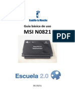 Manual Netbook MSI N0821
