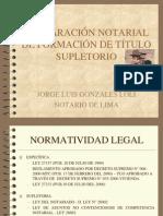 Titulo Supletorio .Congreso Notarial 2008