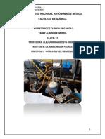 Práctica i Nitración Del Benceno