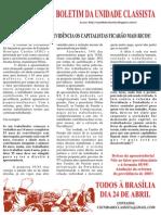 Boletim Da Unidade Classista Marcha a Brasilia