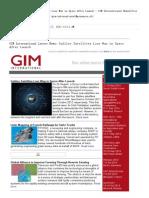Galileo Satélites Camino Pierde en El Espacio Después de Su Lanzamiento - GIM Internacional