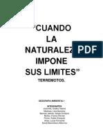 LOS TERREMOTOS Trabajo Monografico