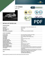 Mercedes C-class EuroNCAP