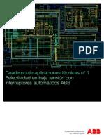 Selectividad en Baja Tensión Con Interruptores Automáticos ABB _ Cuaderno de Aplicaciones Técnicas Nº 1 _ ABB