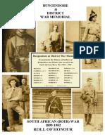 1899 Bungendore & District War Memorial - The Boer War