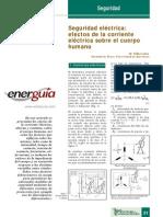 Seguridad Eléctrica _ Efectos de La Corriente Eléctrica Sobre El Cuerpo Humano