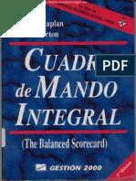 62676883 Cuadro de Mando Integral 2da Edicion Robert S Kaplan Amp David P Norton