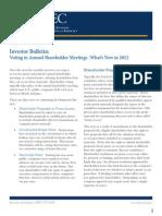Voting in Annual Shareholders Meetings