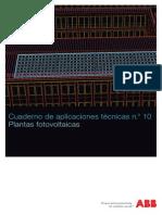 Plantas Fotovoltaicas _ Cuaderno de Aplicaciones Técnicas Nº 10 _ ABB