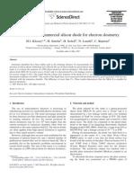 Evaluation of Commercial Silicon Diode for Electron Dosimetry