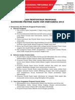 Panduan Format Proposal Proyek Sains OSN Pertamina 2014