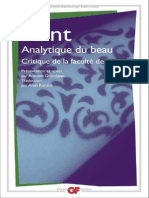Analytique Du Beau